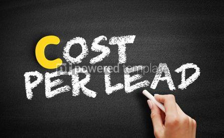 Business: Cost Per Lead text on blackboard #00380