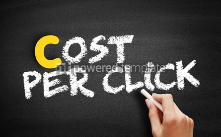 Business: Cost Per Click text on blackboard #00381