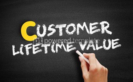 Business: Customer Lifetime Value text on blackboard #00382