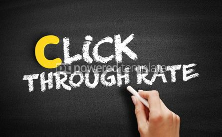 Business: Click Through Rate text on blackboard #00383