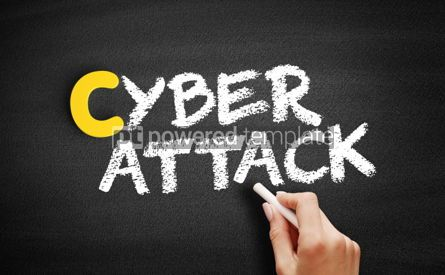 Business: CYBER ATTACK text on blackboard #00384