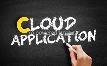 Business: Cloud Application text on blackboard #00387