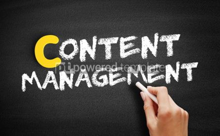 Business: Content Management text on blackboard #00389