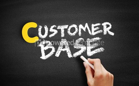 Business: Customer base text on blackboard #00392