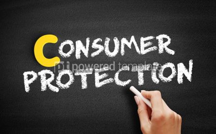 Business: Consumer protection text on blackboard #00395