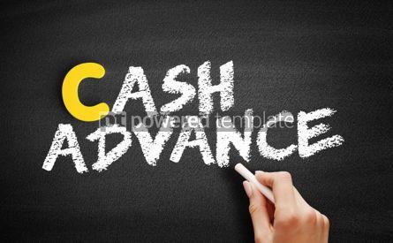 Business: Cash advance text on blackboard #00398
