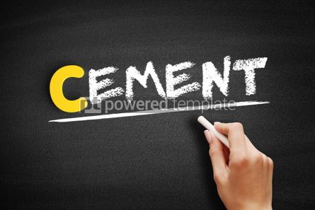 Business: Cement text on blackboard #00399