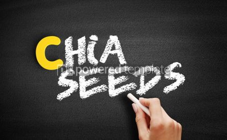 Business: Chia seeds text on blackboard #00400