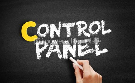 Business: Control panel text on blackboard #00402