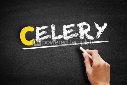Business: Celery text on blackboard #00403