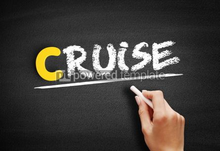 Business: Cruise text on blackboard #00404