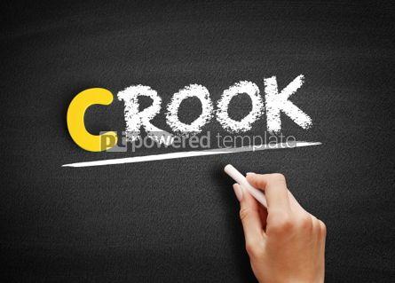 Business: Crook text on blackboard #00405