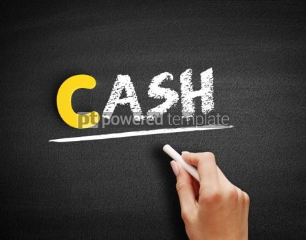 Business: CASH text on blackboard #00406
