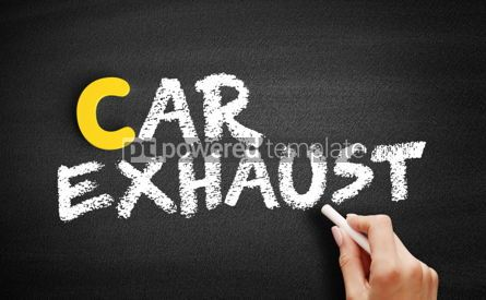 Business: Car exhaust text on blackboard #00410