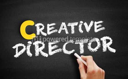 Business: Creative director text on blackboard #00412