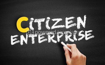Business: Citizen enterprise text on blackboard #00413