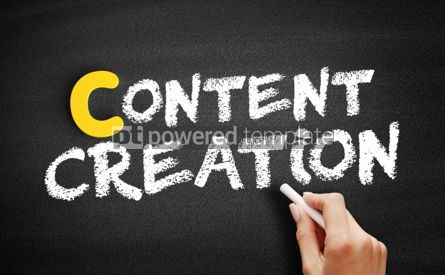 Business: Content creation text on blackboard #00414