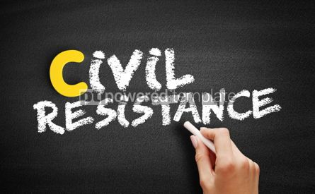 Business: Civil resistance text on blackboard #00415