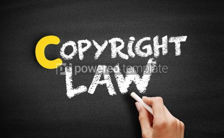Business: Copyright law text on blackboard #00417