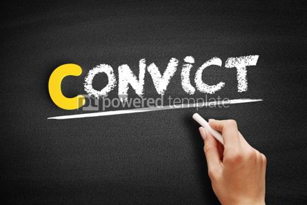 Business: Convict text on blackboard #00418