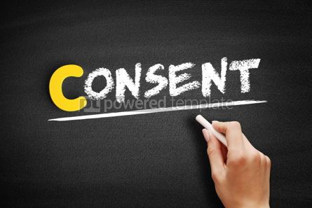 Business: Consent text on blackboard #00423