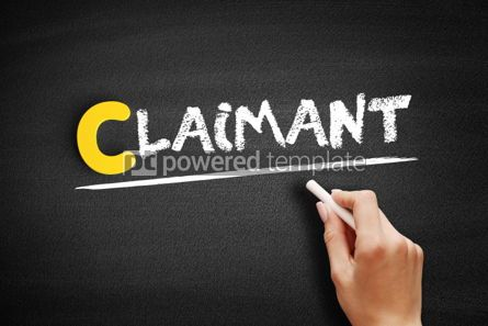 Business: Claimant text on blackboard #00424