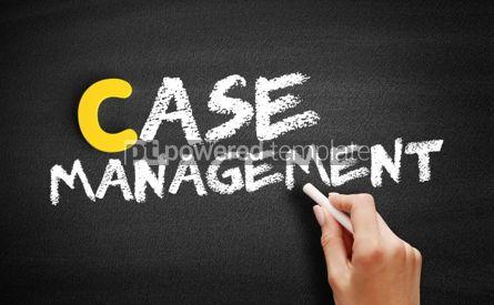 Business: 사진 - 칠판에 사례 관리 텍스트 #00425
