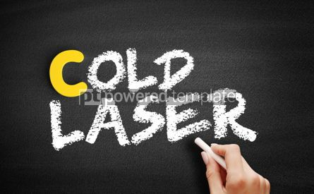 Business: Cold laser text on blackboard #00427