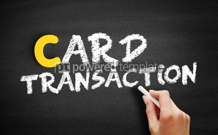 Business: Card transaction text on blackboard #00429