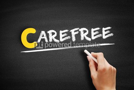 Business: Carefree text on blackboard #00431