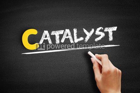 Business: Catalyst text on blackboard #00432