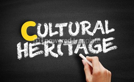 Business: Cultural heritage text on blackboard #00434
