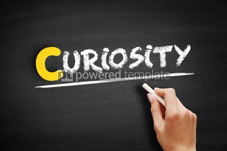 Business: Curiosity text on blackboard #00435