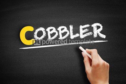 Business: Cobbler text on blackboard #00437