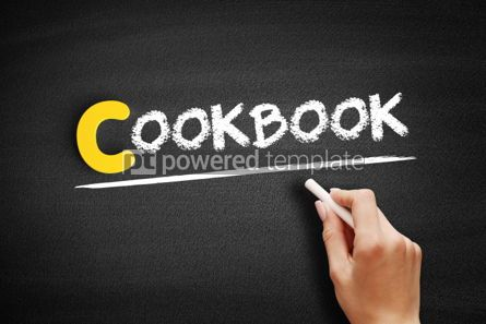 Business: Cookbook text on blackboard #00438