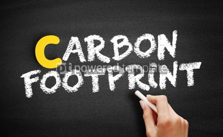 Business: Carbon footprint text on blackboard #00440