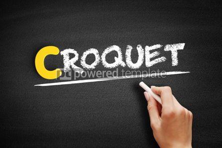 Business: Croquet text on blackboard #00441