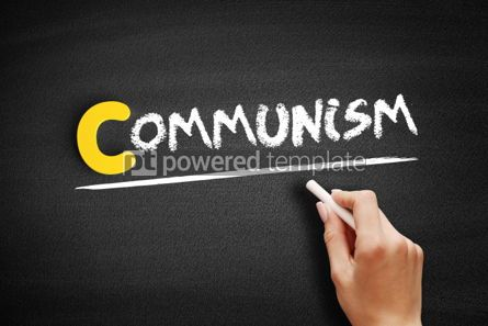 Business: Communism text on blackboard #00442