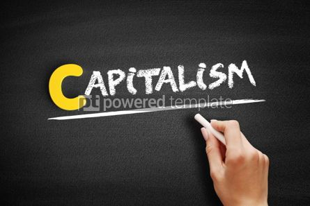 Business: Capitalism text on blackboard #00443