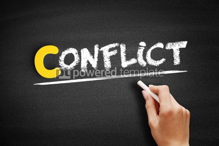Business: Conflict text on blackboard #00446