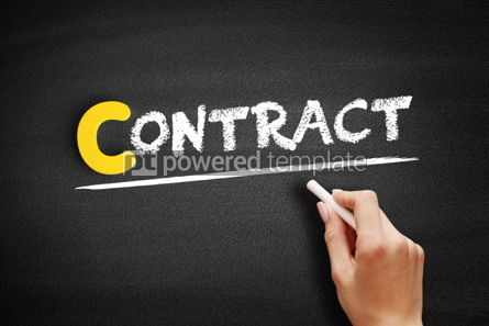 Business: Contract text on blackboard #00447