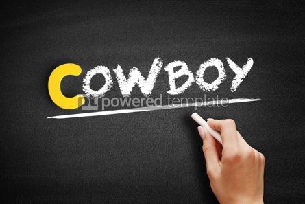 Business: Cowboy text on blackboard #00452