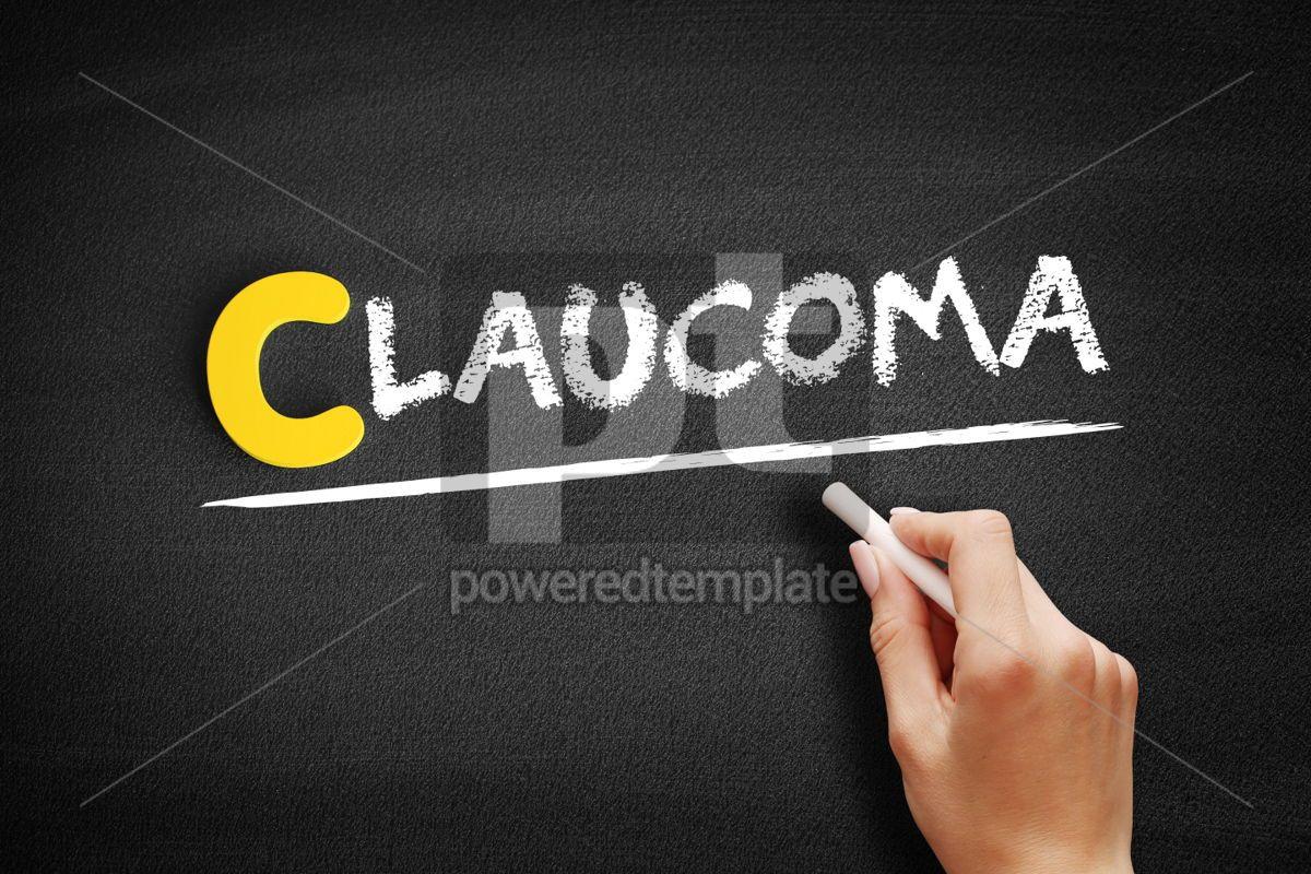 Glaucoma text on blackboard, 00453, Business — PoweredTemplate.com
