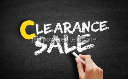 Business: Clearance sale text on blackboard #00455