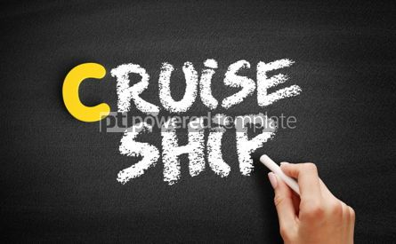 Business: Cruise ship text on blackboard #00458