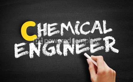Business: Chemical engineer text on blackboard #00459