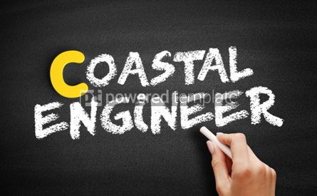 Business: Coastal engineer text on blackboard #00460