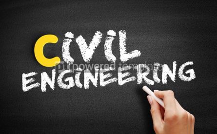 Business: Civil engineering text on blackboard #00461