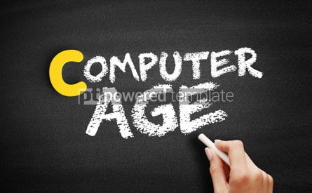 Business: Computer age text on blackboard #00463