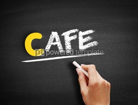 Business: Cafe text on blackboard #00464